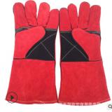 电焊手套加厚牛皮劳保手套耐高温防刺穿双层加长焊工焊接防护手套