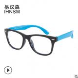 时尚青少年ins儿童防蓝光眼镜硅胶镜框近视平光手机防辐射护目镜
