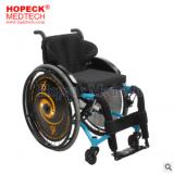 AUFU佛山东方老人残疾人休闲运动型可折叠铝合金后轮可拆运动轮椅