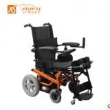 佛山东方AUFU FS139高光橙电动轮椅海绵座垫铝合金残疾人轮椅车