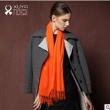 旭亚 内蒙古纯山羊绒 纯色羊绒女围巾披肩两用 防寒保暖