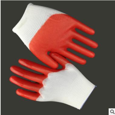 工厂pvc大半挂全挂平挂 挂胶 浸胶 橡胶 尼龙胶皮手套 厂家直销