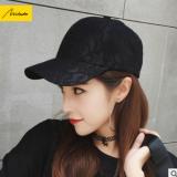 美哒哒蕾丝棒球帽女硬顶弯檐春夏新款鸭舌帽时尚黑色帽子遮阳防晒