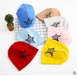 新款儿童帽子 0-3个月7个月-6岁宝宝胎帽 婴幼儿套头帽饰品五星