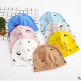 新款儿童帽子 0-3个月7个月-6岁宝宝胎帽 婴幼儿套头帽小鱼