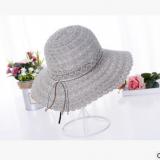 韩版蕾丝镂空遮阳帽女春夏休闲百搭渔夫帽可折叠防晒阳光沙滩帽