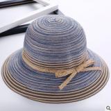 新款女士帽子 民族风棉纱遮阳盆帽百搭复古折叠渔夫帽出游太阳帽