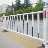 厂家直销城市道路隔离栏杆白色锌钢护栏交通设施安全隔离护栏批发