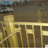 交通防撞护栏 黄金色莲花祥云隔离栏市政道路金色栏杆