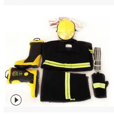 大码02款消防服五件套 阻燃战斗消防服 火灾战斗耐高温消防防护服