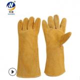 现货加厚劳保手套 焊工防火星手套 耐磨焊接机械手套电焊手套