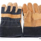 供应头层牛皮劳保防护手套 电焊手套结实耐用