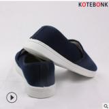 蓝白色棉鞋防静电加绒保暖软底PVC工作鞋中巾鞋防滑耐磨舒适