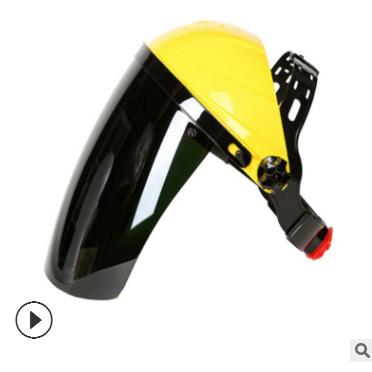 PC有机玻璃电焊面罩头戴式打磨氩弧焊气保焊防护面罩防辐射飞溅物