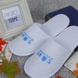 一次性拖鞋 防滑拉毛布拖鞋 酒店一次性用品拖鞋 厂家定制 logo