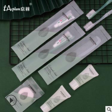 酒店一次性洗漱用品套装宾馆消耗品客房专用牙刷牙膏定制批发
