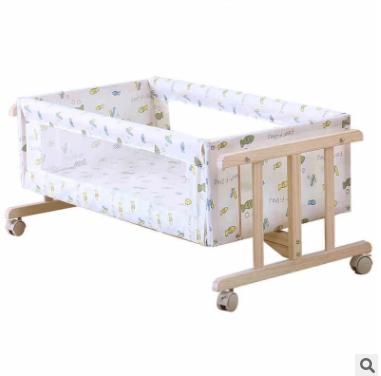 星月童话婴儿床实木环保摇篮床新生儿摇床bb床便携式宝宝床带蚊帐