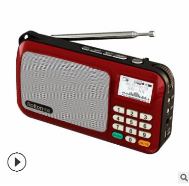 Rolton乐廷W505老人迷你小音响便携式MP3播放器歌词显示 插卡音箱