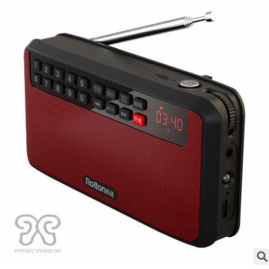 Rolton/乐廷 T60收音机MP3老人迷你小音响便携式插卡音箱随身听