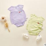 婴儿包屁衣卡通2020夏季薄款米老鼠新生儿衣服宝宝三角哈衣批发