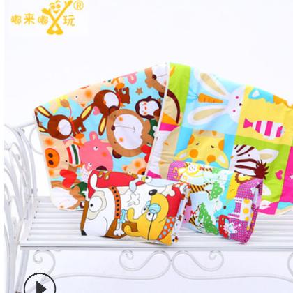 75*120儿童卡通棉质3层防水宝宝隔尿垫 大号婴儿尿垫三层加厚夹棉