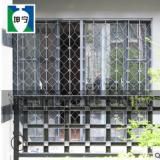 坤宁内置活动伸缩推拉式锰钢折叠客厅防盗窗防护窗防盗网旧城改造