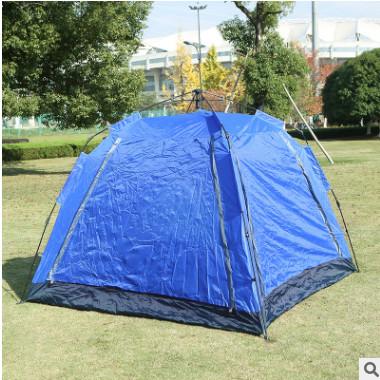 新款防风防雨双层自驾游露营装备 户外便携折叠野外活动帐篷直销