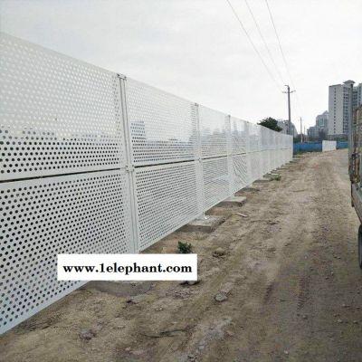 钢结构金属防风护栏网 镀锌冲孔板施工隔离环保防尘围挡 尺寸定制