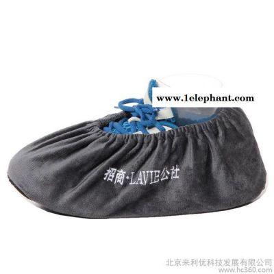 割绒绒布鞋套样板房绒布布鞋套可反复洗防滑 鞋套别墅绒布脚套