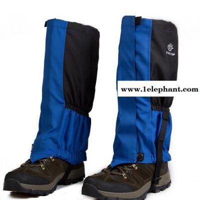 tectop户外防虫防水透气滑雪登山鞋套雪套防沙加长型套脚套 男女