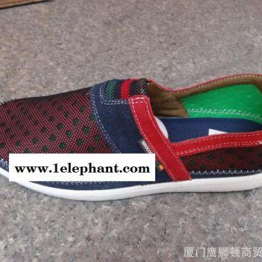 夏季新款 男式休闲鞋英伦时尚潮流男鞋透气超轻休闲鞋套脚单鞋