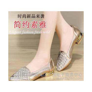 盾狐秋季新款女单鞋套脚尖头平底鞋水钻女休闲鞋女鞋9661