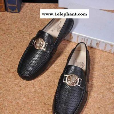 舒适经典款潮流真皮时尚休闲船鞋懒人低帮男鞋套脚男鞋