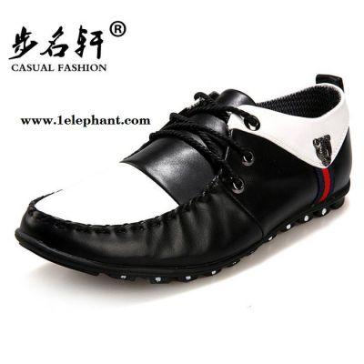 步名轩男士豆豆鞋真皮鞋英伦潮流休闲男鞋子帆船鞋套脚驾车鞋F3
