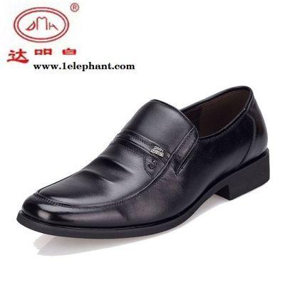 达明皇男鞋2016新款商务正装皮鞋套脚真皮爸爸鞋商务牛皮单鞋