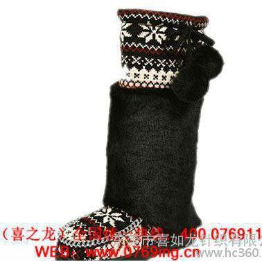 针织婴儿鞋面 纯棉鞋口 毛线针织鞋筒 提花罗纹鞋套