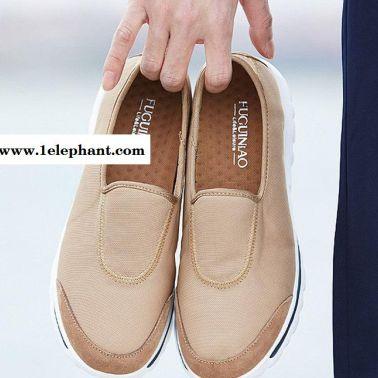 富贵鸟男鞋夏季男士运动休闲鞋套脚懒人鞋男透气乐福鞋网布鞋板鞋