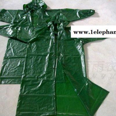 成人PVC牛筋四合扣分体雨衣 **分体雨衣加工定制 成人分体防水鞋套
