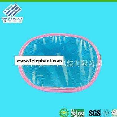 塑料定制手提收纳袋 PVC蝴蝶结零钱包 心形pvc透明化妆包定制