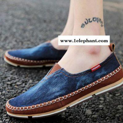 夏季新款水洗帆布鞋套脚男鞋一脚蹬懒人鞋韩版日常休闲鞋男士板鞋