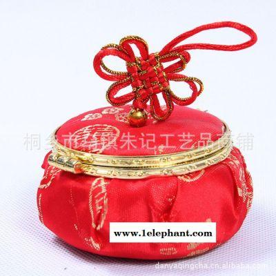 中国风传统喜糖盒 民族风布艺灯笼包 玲珑首饰盒 收纳盒