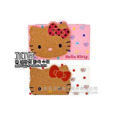 韩国进口HelloKitty笔筒 办公用品收纳盒 木质多用笔筒