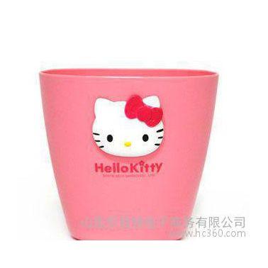 韩国进口杂物桶 hello kitty 可挂式多用桶 收纳盒