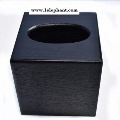 黑色实木纸巾筒木质纸巾盒可爱卫生间收纳盒抽纸盒餐巾盒车用纸抽