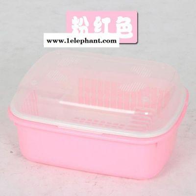 厨房沥水碗架带盖碗筷餐具收纳盒滴水碗架置物架家居环保塑料碗盆