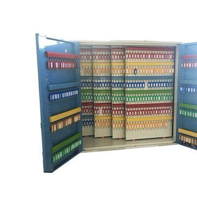 埃克萨斯推拉式大型物业钥匙柜汽车4S专用钥匙收纳盒包邮蓝