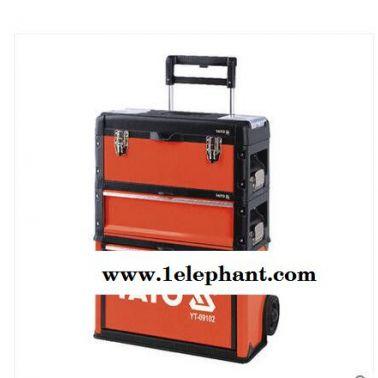 易尔拓进口工具拉杆式工具箱组四厢式三厢式收纳盒YT-0910