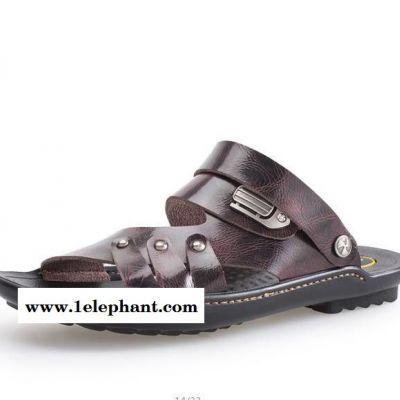 2915新款男士休闲露趾拖鞋 舒适日常两用凉拖鞋
