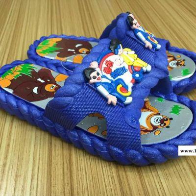 夏季新款纯色防滑儿童凉拖鞋吹气底耐磨儿童拖鞋2015中小童