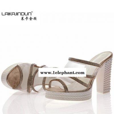 莱卡金顿 性感软面套趾新款凉拖鞋凉鞋 时尚流行拖鞋女LKA1